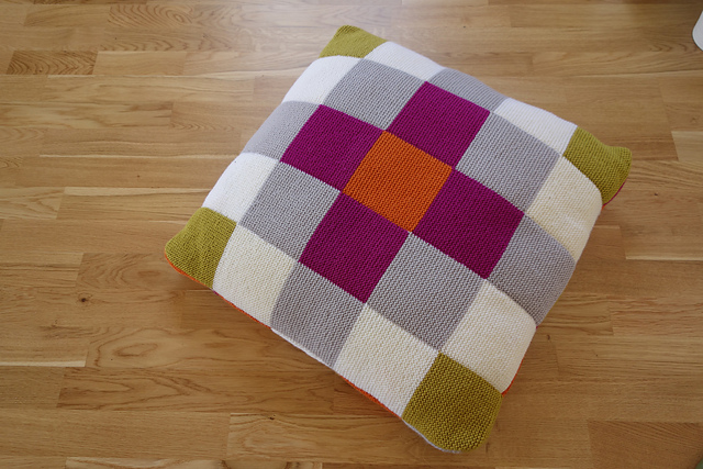 Gorgeous Patchwork Cushion Pattern Designed By Anna Ravenscroft