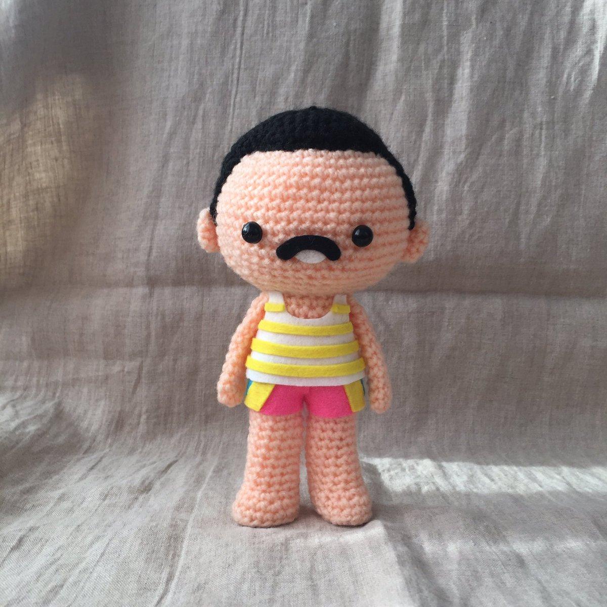 She Crocheted a Freddie Mercury in Pink Shorts Amigurumi ... So Cute!