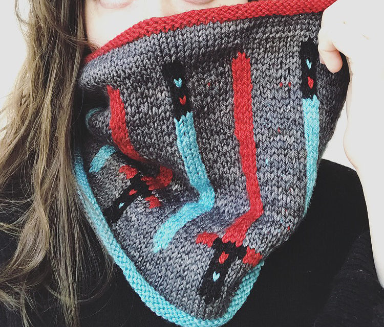 Knit a Light Saber Cowl, The Cowl That Will Be With You Always … Star Wars FTW!