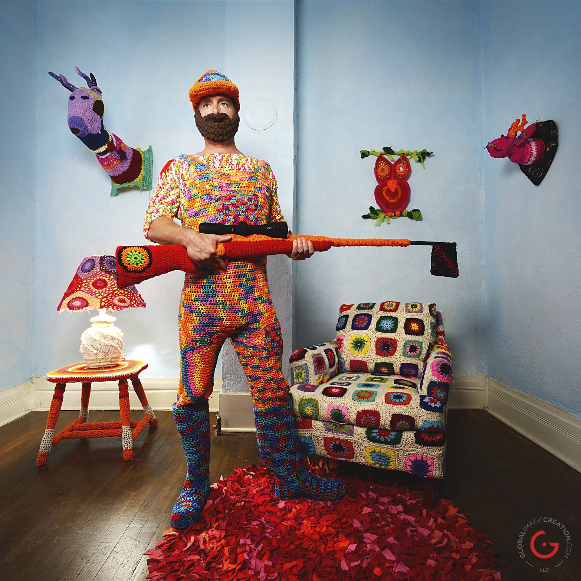 Check Out 'Yarnography' - Photos By Jeremy Mason McGraw, Colorful Crochet Art of Gina Gallina