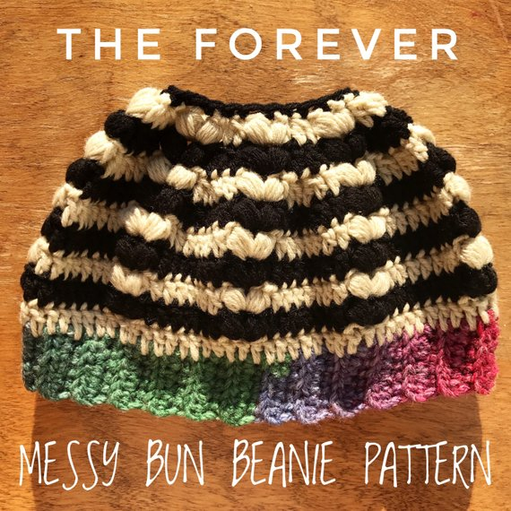 A Fresh Take on the Messy Bun Beanie, Get Your Crochet Hooks Out!