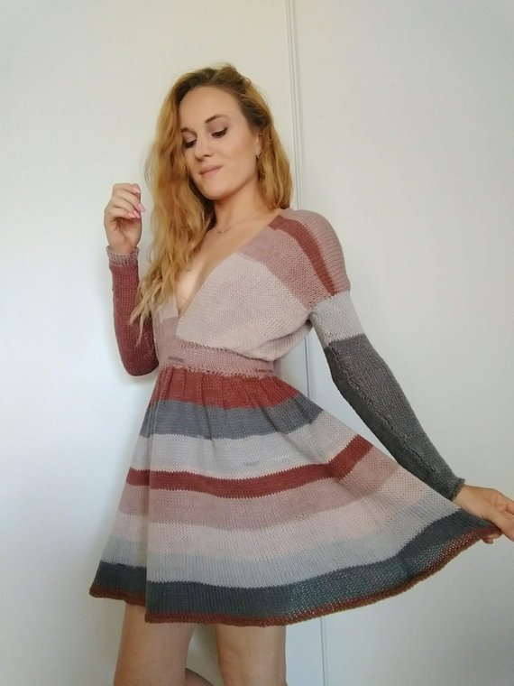 Knit a Cute Dress For Spring!