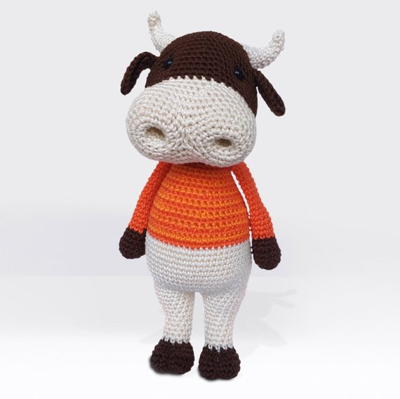 Crochet a Ringo The Bull Amigurumi ... How Cute Is This Guy?