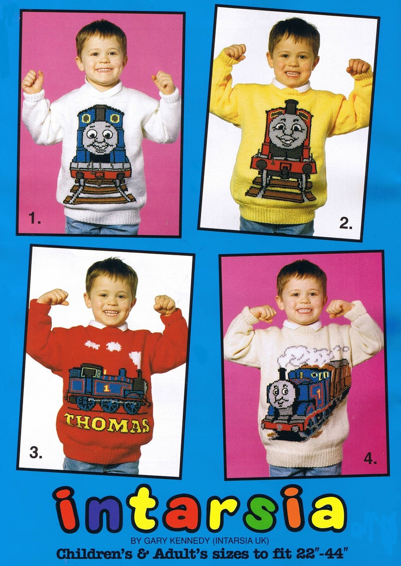 Three Fun Vintage Knitting Patterns For Thomas The Tank Engine & Friends Fans