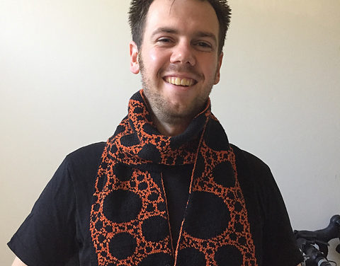 FREE Pattern! Knit a Spherical Fractal Scarf Designed By Niels Langeveld and Anja Rueten-Budde