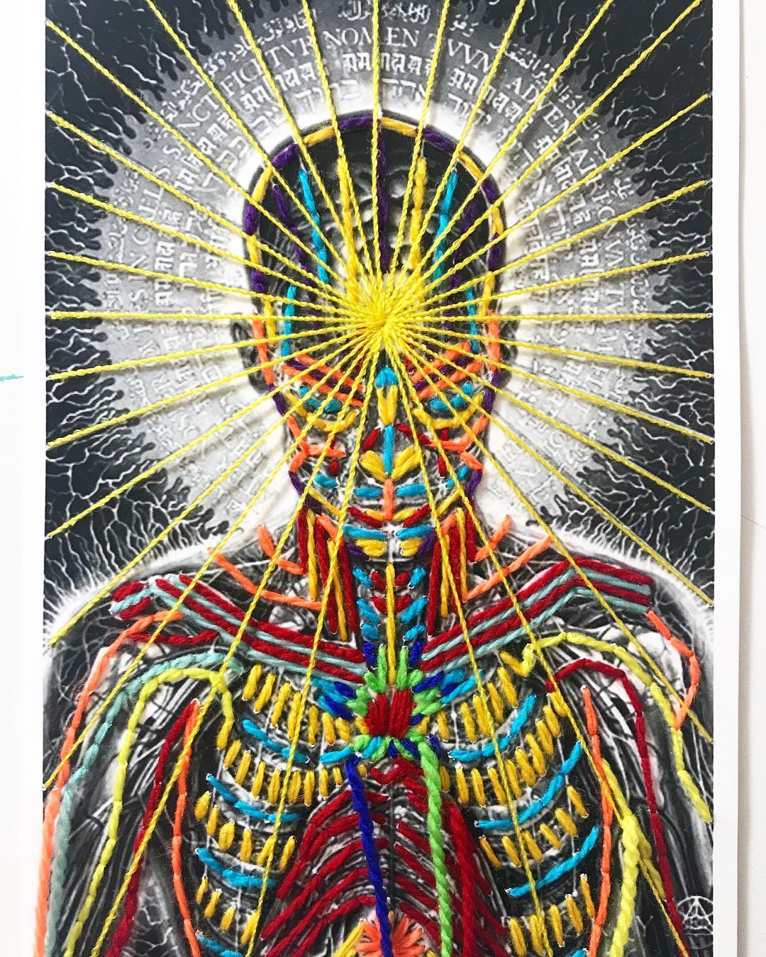 'Praying' By Alex Grey, Embroidery By Victoria Villasana
