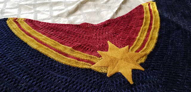 Knit a Captain Marvel-Inspired  Shawl With This FREE Pattern!