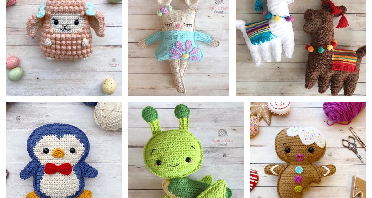 Designer Spotlight: Charming Crochet Amigurumi From Spin a Yarn Studio, They're Irresistible!