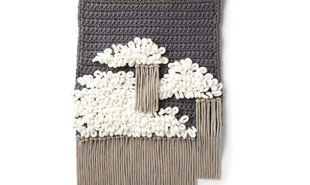 Crochet a Cloudy Sky Wall Hanging With Playful Loops