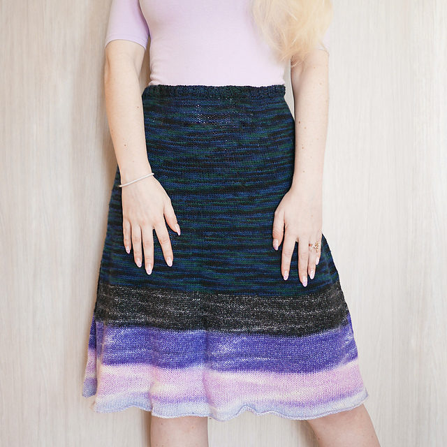 Knit An Adorable Little Flare Skirt With This Free Pattern From Violet LeBeaux