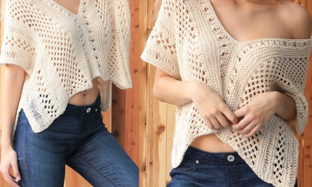 Hello, Gorgeous! This Lacey Knit Pullover Pattern Is So Versatile and Perfect For Summer!
