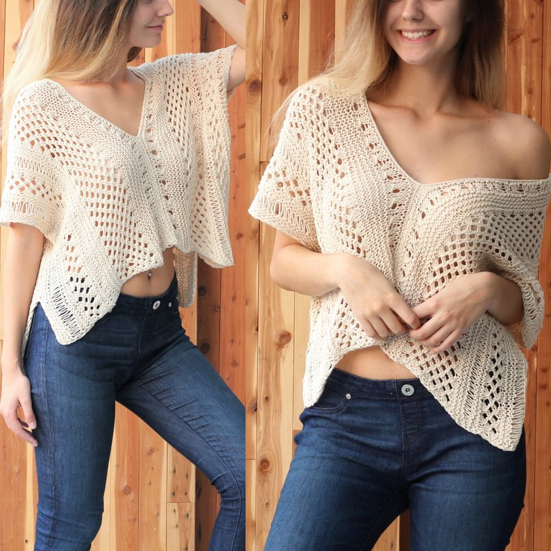 Hello, Gorgeous! This Lacey Knit Pullover Is So Versatile and Perfect For Summer!