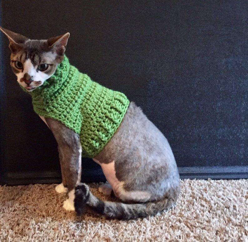 Crochet A Cool Cat Sweater Foxy Feline Pattern By Twistedknotcrochet