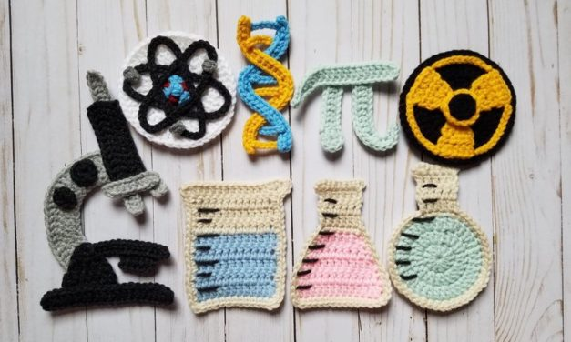 Just in Time for Pi Day, Check Out This 'Mad Science Applique Pack' For Crocheters!