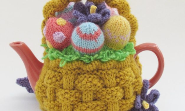 Knit a Basket of Easter Eggs Tea Cosy