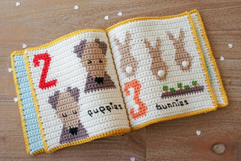 This Cute Crochet Book is a Clever and Safe Way To Teach Babies About Counting!