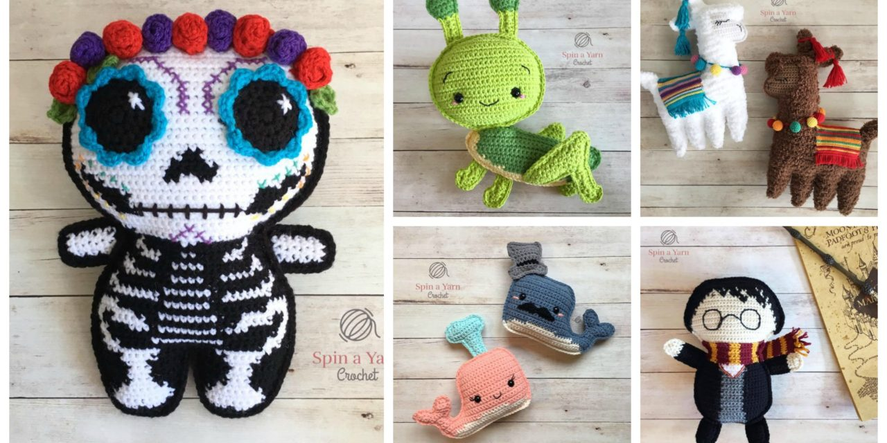 Designer Spotlight: Charming Crochet Amigurumi From Spin a Yarn Studio, They're Irresistible!