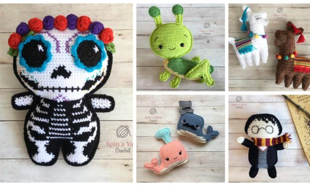 Day Of The Dead Sugar Skull Free Amigurumi Pattern | Crochet skull ... | 376x627