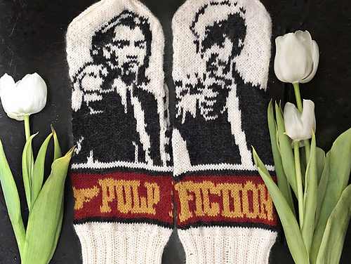 Amazing Mittens Inspired By Quentin Tarantino's Pulp Fiction … Yes, There's a Pattern!