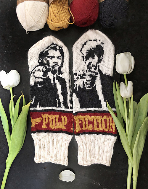 Amazing Mittens Inspired By Quentin Tarantino's Pulp Fiction ... Yes, There's a Pattern!