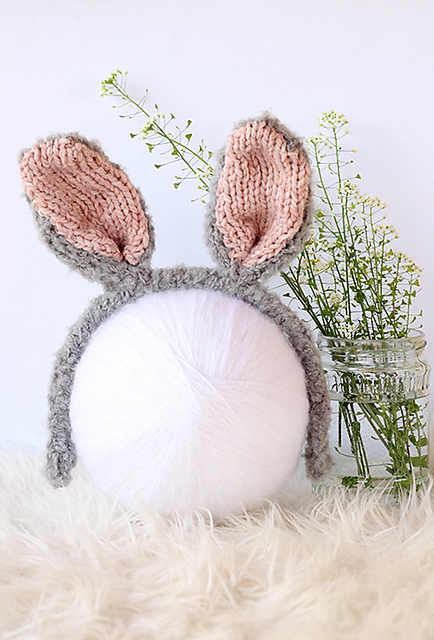 Free Knit Bunny Ears Pattern ... So Adorable!