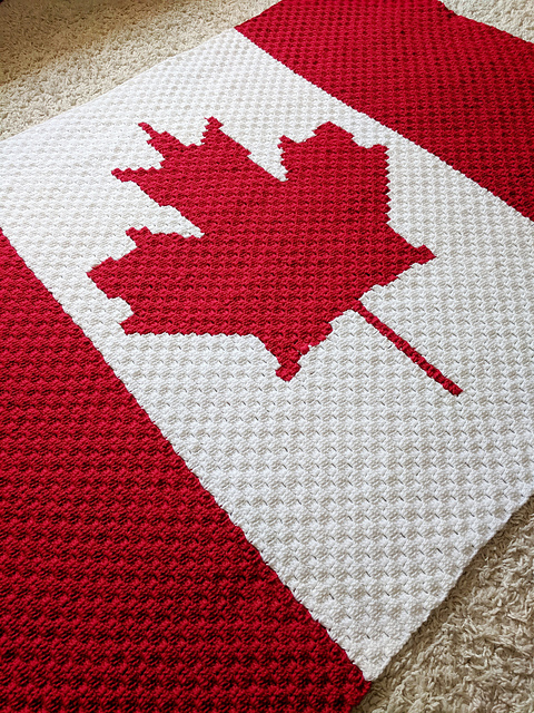 Crochet a Canada Flag Blanket ... a C2C Project For The Country Whose Motto is 'From Sea to Sea' ...