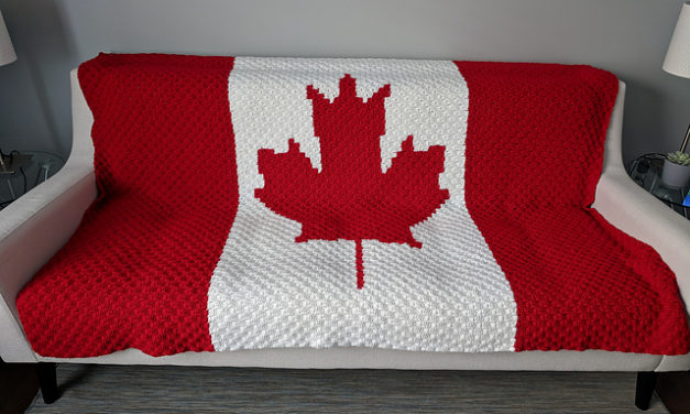 Crochet a Canada Flag Blanket … a C2C Project For The Country Whose Motto is 'From Sea to Sea' …