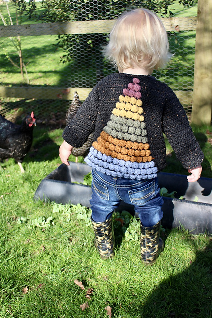 Crochet The Prism Cardigan, An Amazing and Colorful Sweater for Little Kids ... No Fair, I Want One!