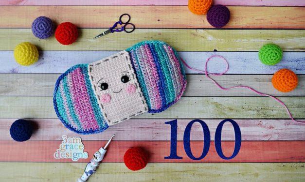 Crochet Yarn Skein Kawaii Cuddler Designed By 3amGraceDesigns