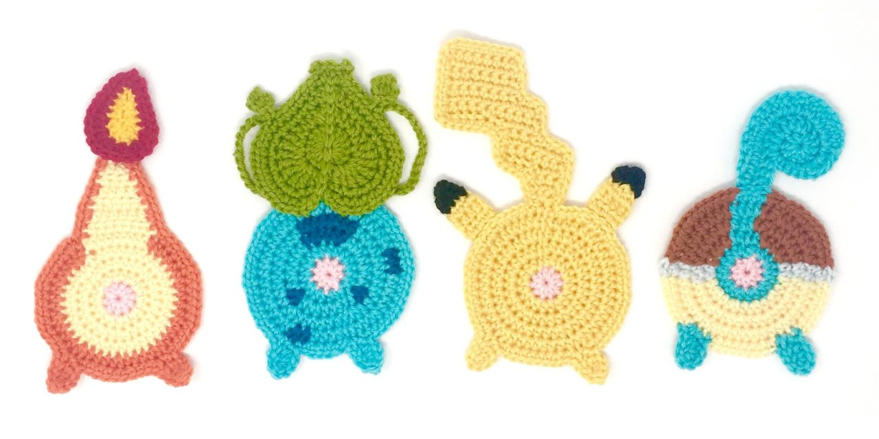 Crochet a Set of Pokébutt Coasters! LOL … Two Sets To Choose From