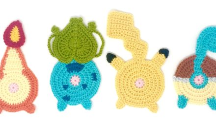 Crochet a Set of Pokébutt Coasters! LOL …