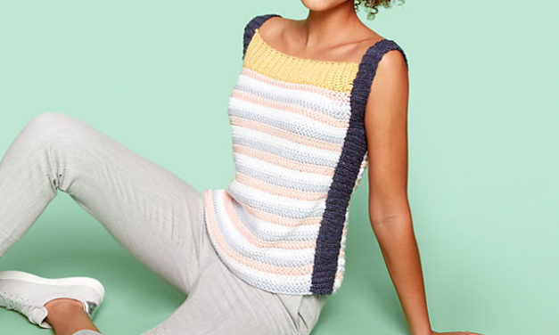 Summer is Coming, Hurry Up and Crochet This Sporty Tank Top, The Pattern is FREE!