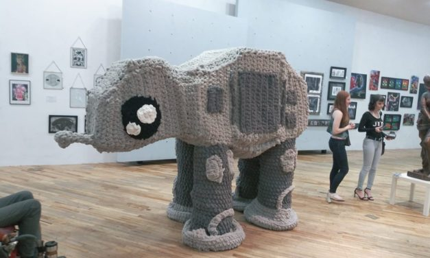 She Crocheted A Supersized AT-AT Walker Amigurumi … Look, It's Taller Than You!