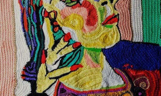 Picasso's Lady Dora Maar Portrait Reworked In Yarn Crocheted By Rita Cavallaro