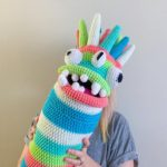Olivia's Crochet Monster Alien Body Pillow Makes Me Laugh!