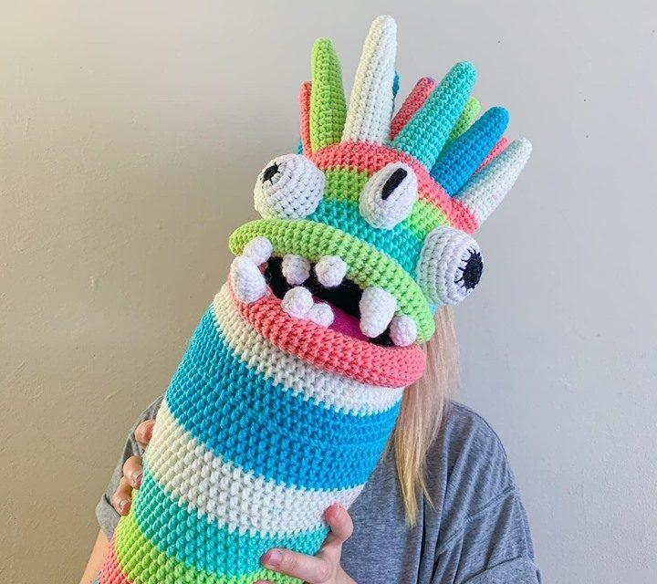 Olivia Law's Crochet Monster Alien Body Pillow Makes Me Laugh! Get The Pattern!