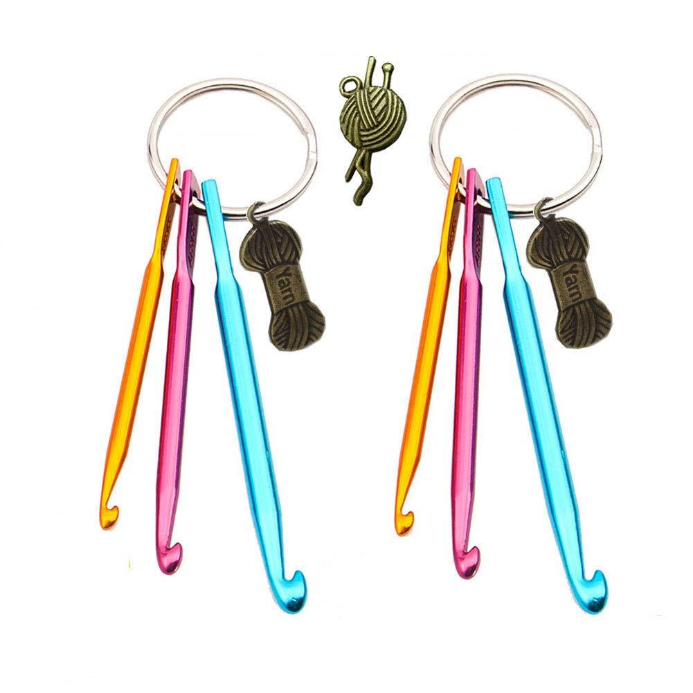 Handy Crochet Hooks Keychain<
