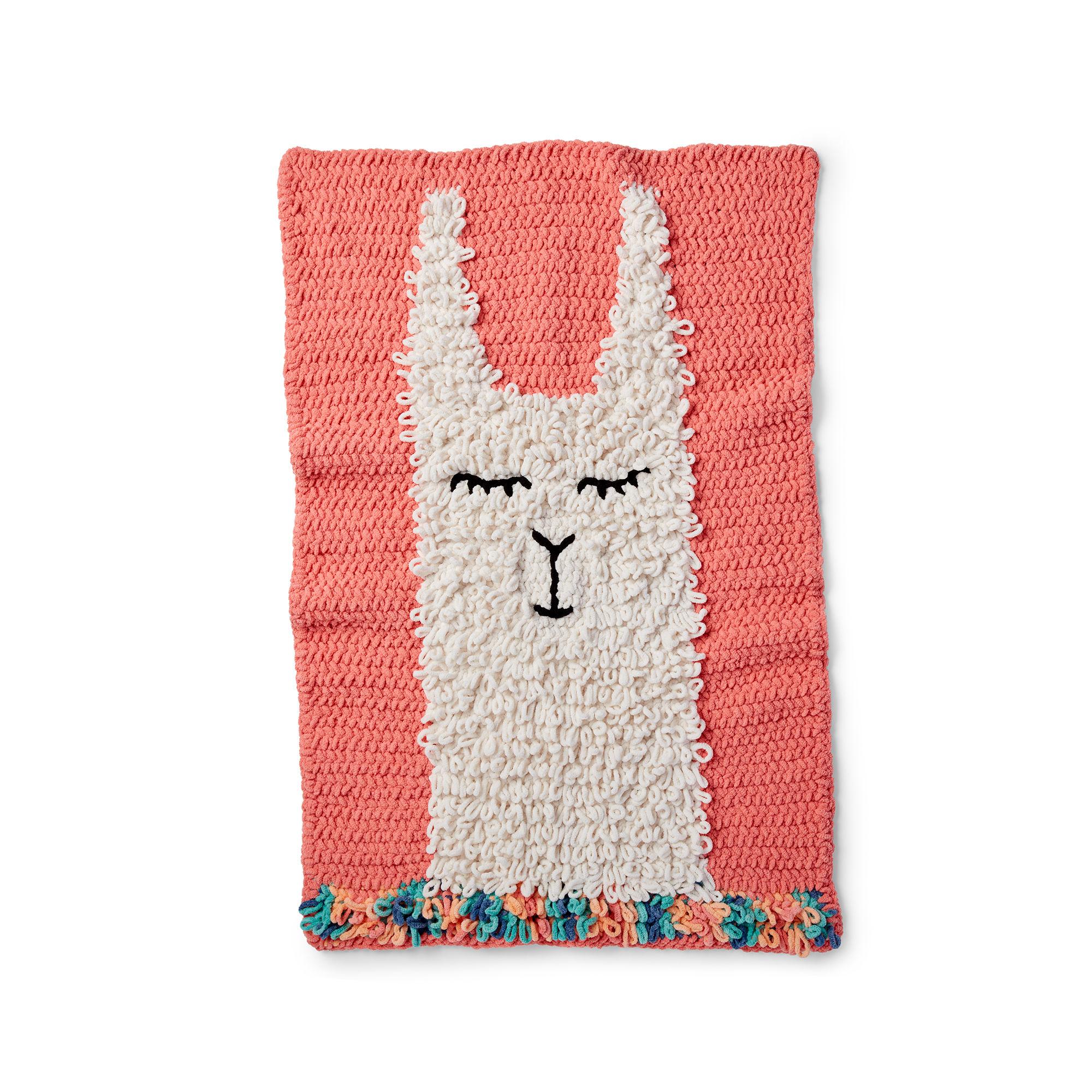 Crochet a Fun Loopy Llama Blanket