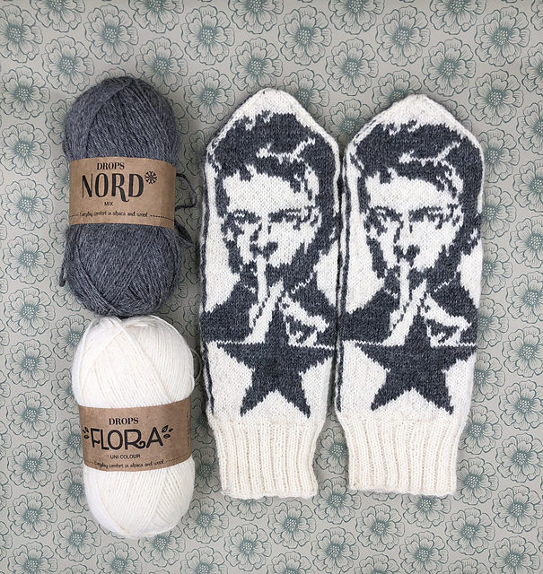 Knit a Pair of David Bowie Mittens, Designed By Lotta Lundin