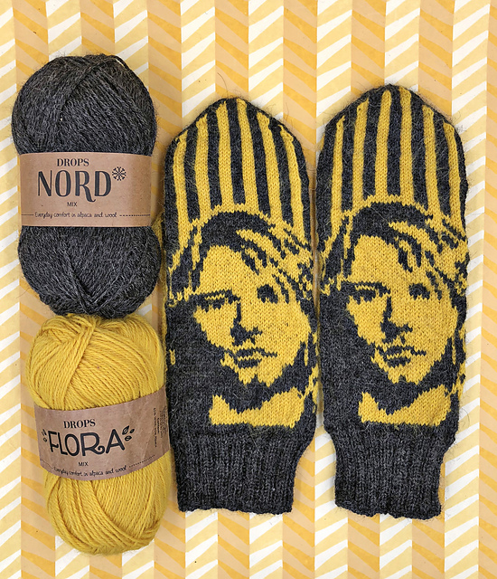 Knit a Pair of Kurt Cobain and Nirvana-Inspired Mittens, Designed By Lotta Lundin