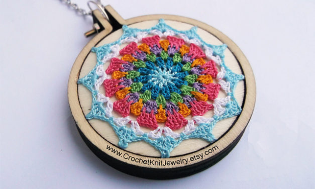 Free Pattern: Crochet a Magnificent Mandala Pendant or Buy One Premade!