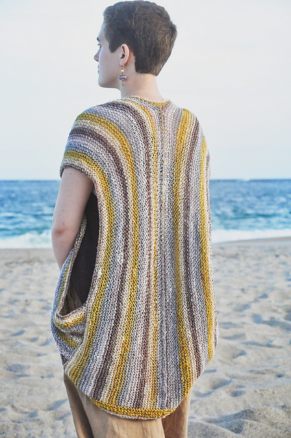 Knit a Beautiful Beachwalker Vest - It's Just Two Rectangles, Perfect For Beginners!