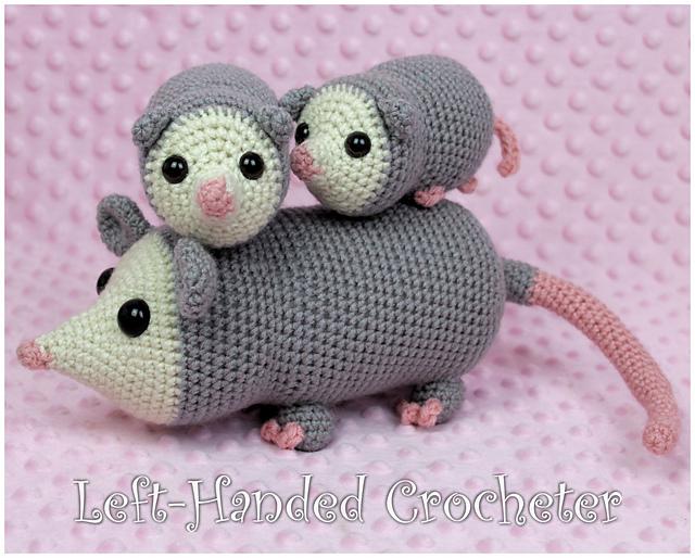 Perky Possum Patterns ... These Crochet Amigurumi Are Unusual and Cute!