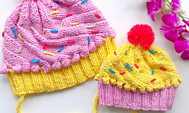 Too Cute Cupcake Beanie … Get the FREE Knit Pattern From KnitterBees