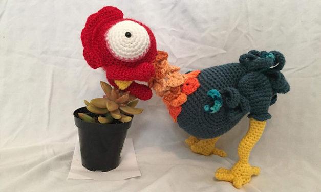 Crochet a Bantam Rooster Amigurumi Inspired By Heihei from Moana
