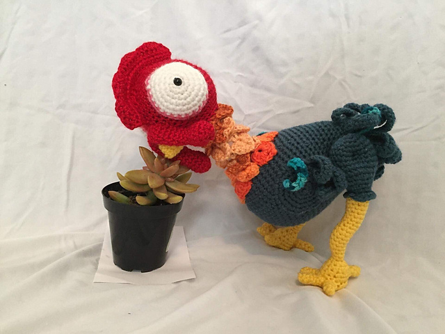 Crochet a Bantam Rooster Amigurumi Inspired By Heihei from Moana