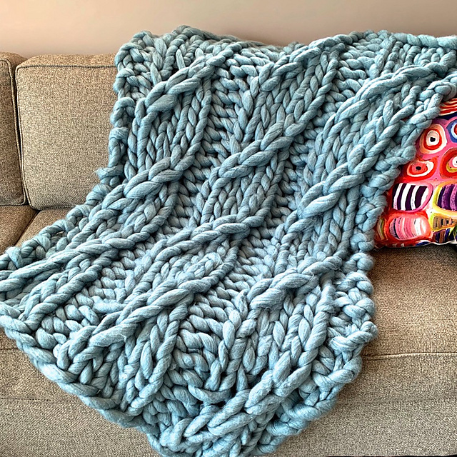 Free Pattern: Knit a Pendere Cable Blanket ... Big Knitting at it's BEST!