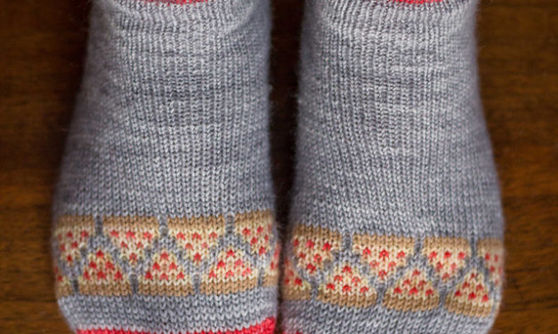 Knit a Peppy Pair of Pizza Party Socks With This FREE Pattern!