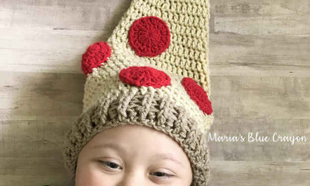 Crochet a Fun Pizza Hat With This Free Pattern!