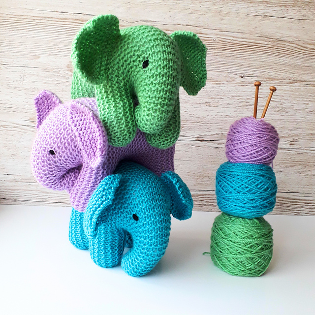 Knit a Baby Elephant ... So Adorable! Hello Best Baby Gift Ever